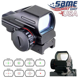 Red Green Dot Reflex Sight Scope Tactical Holographic 4 Reticles Picatinny Rail $31.47