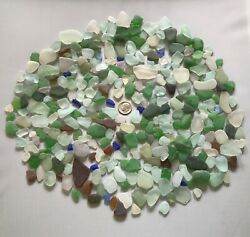 Genuine Beach Sea Glass - One Full Pound Great Value Surf-tumbled Lovely Pieces  $25.00