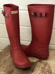 HUNTER Classic RAINBOOTS Size 8 RED $24.99