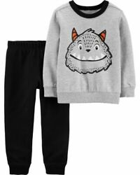 Carter#x27;s Boys Size 5T Monster 2 Piece Outfit Set Shirt Joggers NWT $32 $16.00