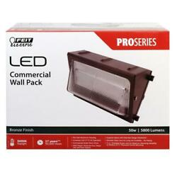Feit S15CWPK 850 1 Light 15quot;W LED Commercial Wall Pack Bronze New
