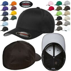FLEXFIT Classic ORIGINAL 6 Panel Twill Fitted Baseball Cap HAT S M amp; L XL New $12.29