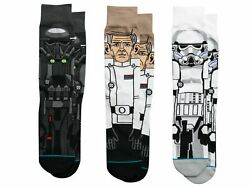 Stance Men#x27;s Star Wars Rogue One Crew Socks 3 Pack $60.00