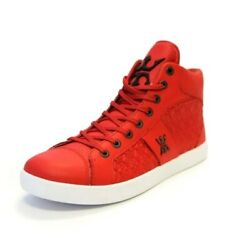MIGGY MENS HIGH TOP SNEAKERS SIZE 11 RED *BRAND NEW* $39.95