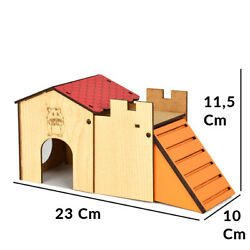 Pet Small Animal Hamster Hideout House Plywood Hut Play Mice toy $13.90