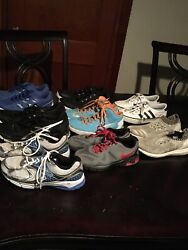 Lot of 8 Pair of men shoes Nike Adidas New Balance And Others for use Resale #1 $195.00