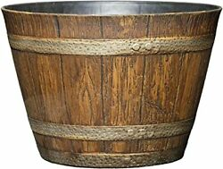 Classic Home and Garden 74 Whiskey Barrel Distressed Oak $24.50
