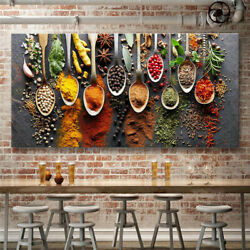 Home Decor Wall Art Pictures Adornment picture Colorful Kitchen Canvas Painting $9.30