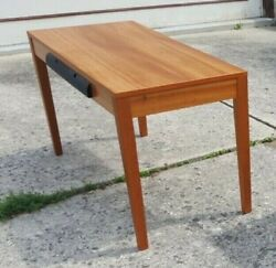 Levenger Writing Computer Euro Desk in Natural Cherry attached cord holder back $75.00