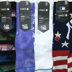 Stance Boys Crew Socks Large 2 5.5 Novelty Arch Support Athletic Ribbed $11.50