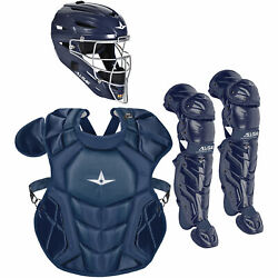 All-Star System7 Axis NOCSAE Youth Baseball Catcher's Set - Solid Navy $349.95