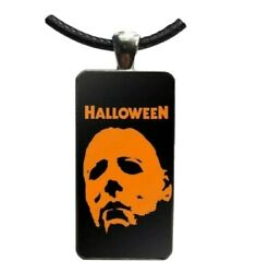 Halloween Michael Myers Glass Cabochon Pendant Necklace Classic Horror Slasher