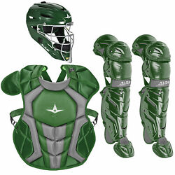 All-Star System7 Axis NOCSAE Youth Baseball Catcher's Package - Dark Green $364.85