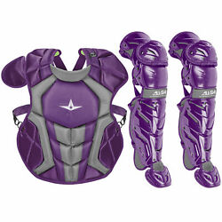 All-Star System7 Axis NOCSAE Youth Baseball Catcher's Gear Set - Purple $229.90