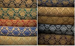 Fabric sold by yard Upholstery Drapery Chenille classic Damask design 60quot; Wide $23.00