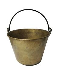 VINTAGE COPPER BUCKET FORGED HANDLE AMERICAN BRASS KETTLE MANUFACTURES #5 $125.00