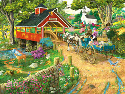 PUZZLE SUNSOUT HOME AT THE END OF THE DAY 300 LARGEPIECES 18 X 24  $10.00