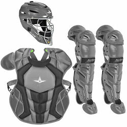 All-Star System7 Axis NOCSAE Youth Baseball Catcher's Package - Graphite $364.85