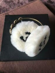 Authentic Chanel Vintage COCO Earmuffs Black White Gold $1,500.00