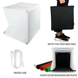 Melcan 40CM Dimmable Photo Photography Light Box Large Lighting Kit Dual LEDs $34.99