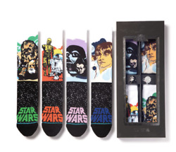 NEW Stance Star Wars Galactic 4 Pack Sock Set with Collector#x27;s Pins *LIMITED* $69.00