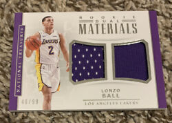 LONZO BALL 2017 18 NATIONAL TREASURES dual rookie materials 46 99