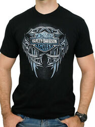 Harley Davidson Mens Gravel Slinger Tribal Logo Black Short Sleeve T Shirt $14.99