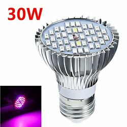 SecurityIng 30W LED Grow Light Bulb E27 40 LEDs Full Spectrum Plant Fill...  $16.99