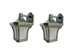 AROYAL 11quot; Black Outdoor Wall Mount Lantern Sconce Exterior light 2Pack