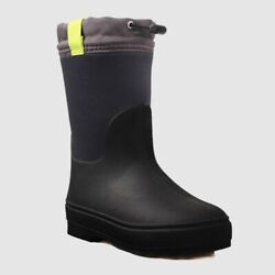 New Cat amp; Jack Robbie Winter Black Boots With Toggle Big Boys Size 1 4 5 $29.99