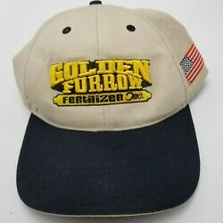 Golden Furrow Fertilizer Inc Hat Cap Bryan Farm Beige Adult Strapback Used Bg2 $10.99