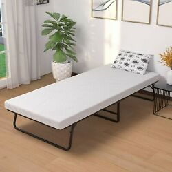 Folding Bed with Foam Mattress/Rollaway Guest Bed with Strong Sturdy Frame - Eas $179.99