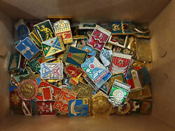 Set 100 Pcs of LOT COLLECTION RUSSIAN SOVIET BADGE PIN USSR Russia $30.00