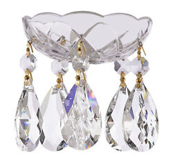 1 PC Crystal Chandelier Bobeche 30% Lead Chandelier Parts W Gold Pin amp; T Drop $15.99