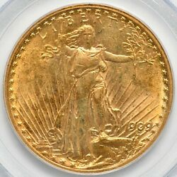 1909 8 Saint Gaudens Gold Double Eagle PCGS AU 58 $2599.00