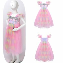 Toddlers Party Girls Sequined Dress Princess Hallwoween Birthday Party Tutu Gown $6.35