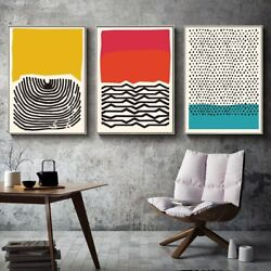 Geometric Lines Art Modern Abstract Wall Painting Print Canvas Poster Home Decor $9.99
