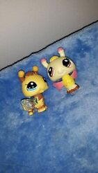 Authentic Littlest Pet Shop Hasbro LPS bug insect lot of 2 cute $8.88