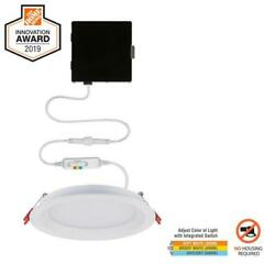 Commercial Electric Slim Baffle 6 in. New Construction Led Recessed Kit