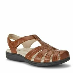 Earth Spirit Womens Cushioned Gelron Footbed Comfort Fisherman Sandals NWT $22.98