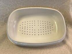 Replacement Vintage Tupperware 1274 Microwave Steamer Basket White EUC $7.99