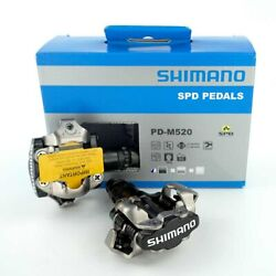 SHIMANO PD M520 SPD PEDALS Clipless MTB Cleats SM SH51 Bike Cycling $49.99