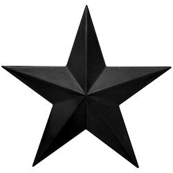 Black Rustic Dimensional Barn Star 11quot; Country Farmhouse Home Decoration $19.97