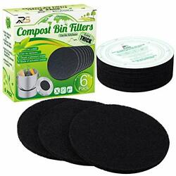 Extra Thick Charcoal Filters For Kitchen Compost Bins Refill Replacement Size $18.99