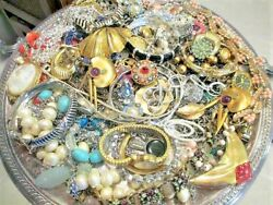 Unsearched Jewelry Vintage Modern Lot Wear Junk Craft Box 3 Pounds HUGE SALE $33.29