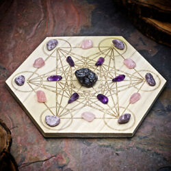 HSFY: Dissolve Grief Mini Crystal Grid Set Small Crystal Grid Kit $51.00