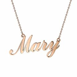 Women#x27;s Stainless Steel Charm Unique Name Custom Pendant Necklace Chain For Gift $10.99