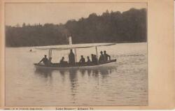 Steam Boat load of men Lake Hosmer Albany Vermont; Undivided Back; VG $5.25