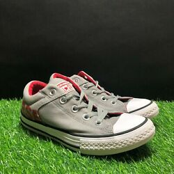 Converse All Star Kids Boys Gray Red Sneakers Shoes Size 3 $20.00