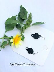 Face mask earrings. Lightweight Black Mini Drop Earrings. $3.51